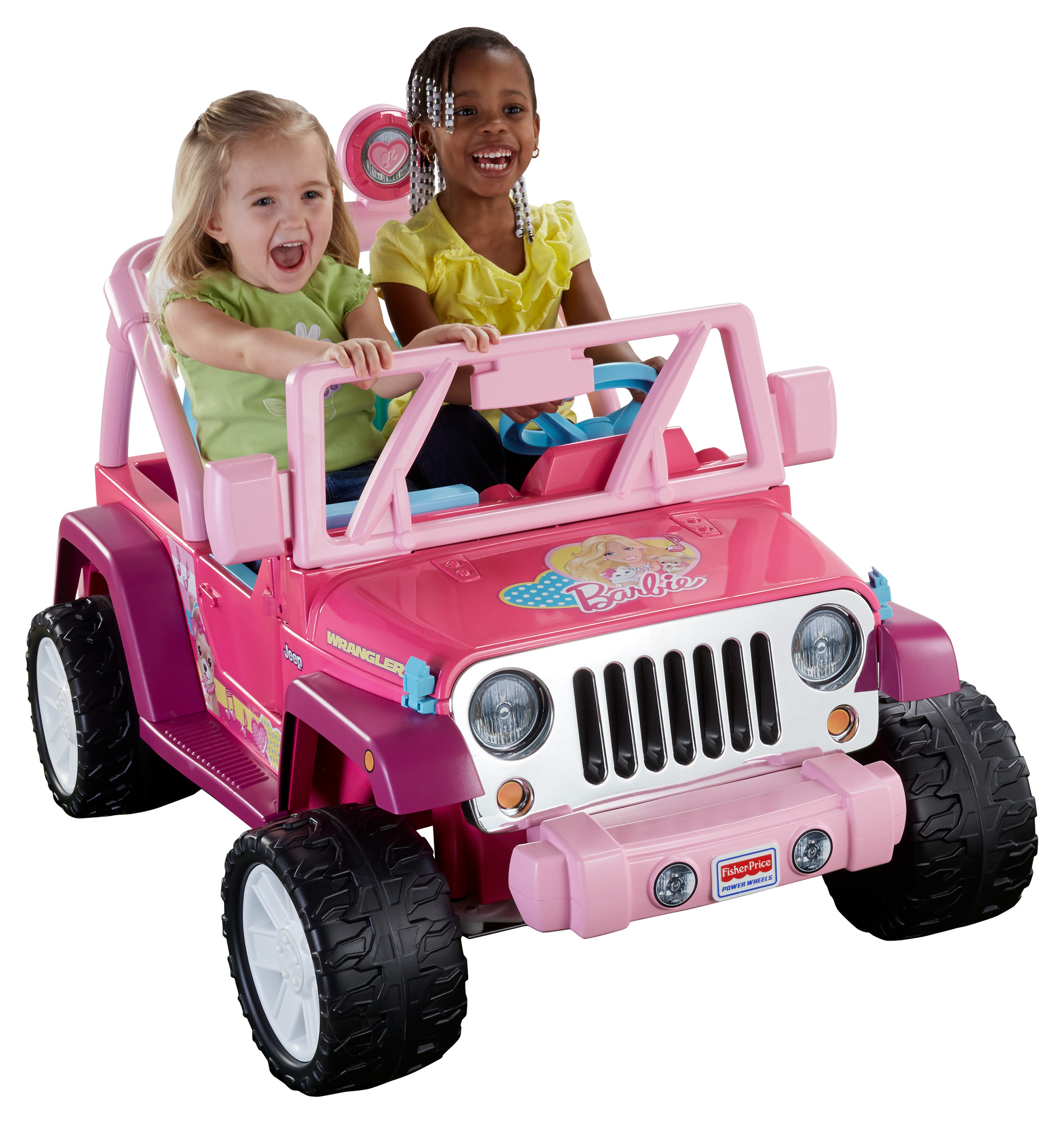 Fisher-Price Power Wheels Barbie Jammin' Jeep Wrangler 12-Volt Battery-Powered Ride-On, Pink