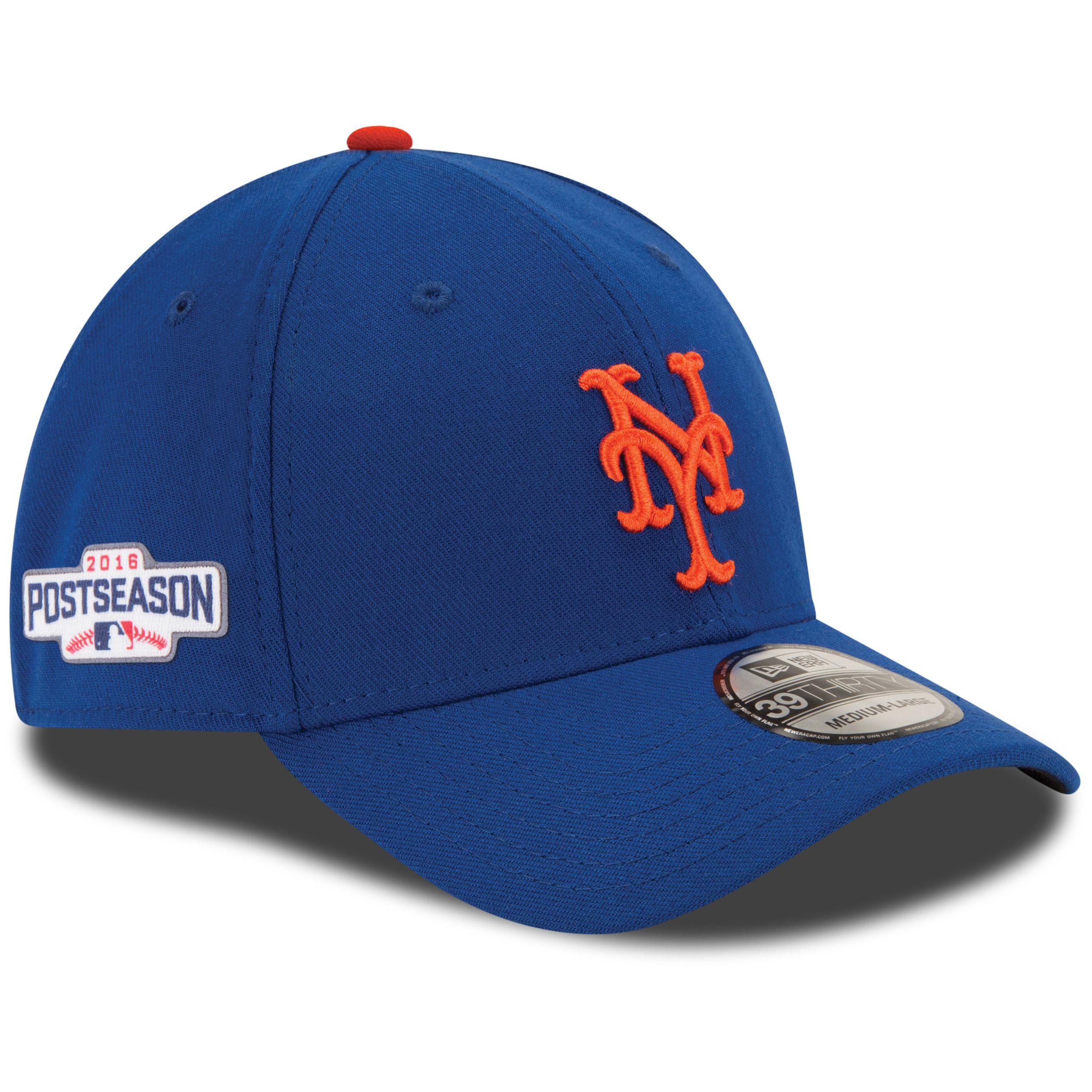 New York Mets New Era 2016 Postseason Side Patch 39THIRTY Flex Hat - Royal