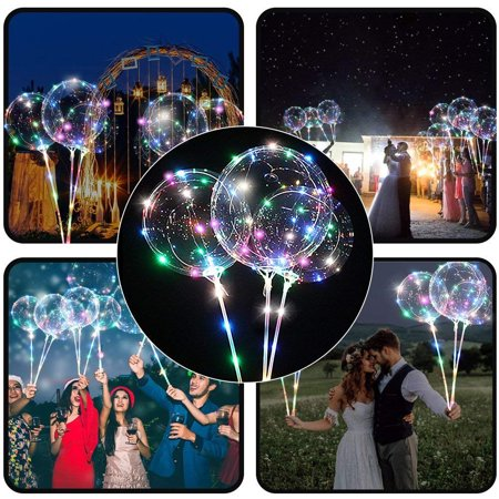 Reusable Luminous Led Balloon Transparent Round Bubble Decoration Party Wedding](Led Glow Balloons)
