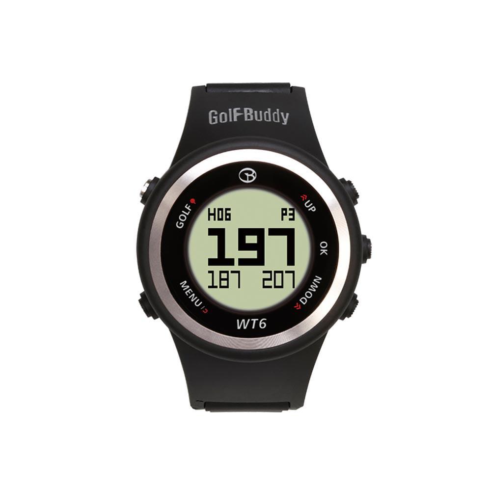Golf Buddy WT6 Distance Tracking Golf Range GPS Rangefinder Wear Watch, Black by GolfBuddy