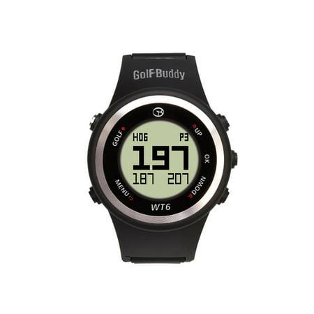 Golf Buddy WT6 Distance Tracking Golf Range GPS Rangefinder Wear Watch, Black