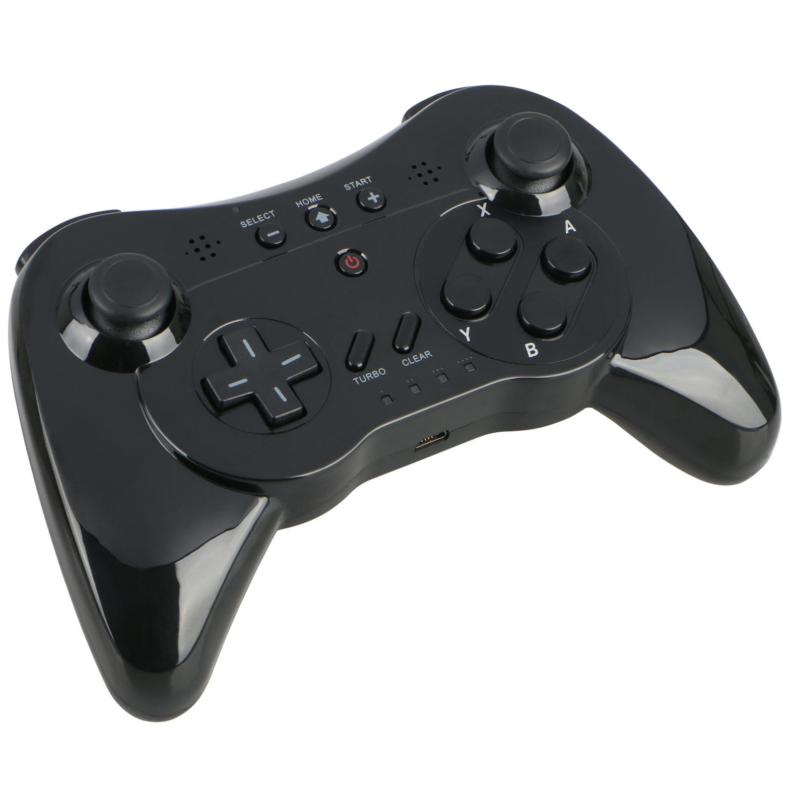 Wireless Game Controller,Classic Rechargeable Bluetooth Gamepad Joypad Remote for Nintendo Wii U