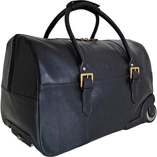 Hidesign Charles Leather Wheeled Travel Weekend Luggage Bag