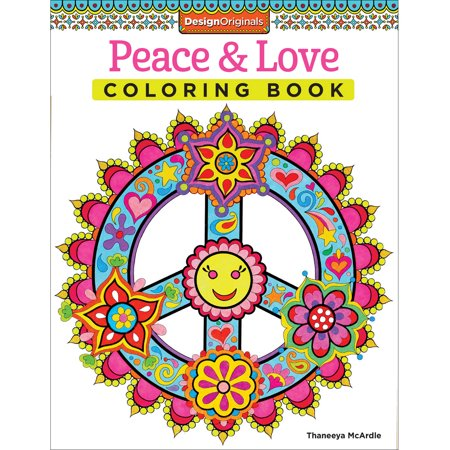 peace and love coloring book - Walmart Coloring Books