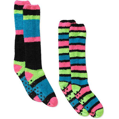 Women's Cozy Knee High Stripe Sock, 2-Pack