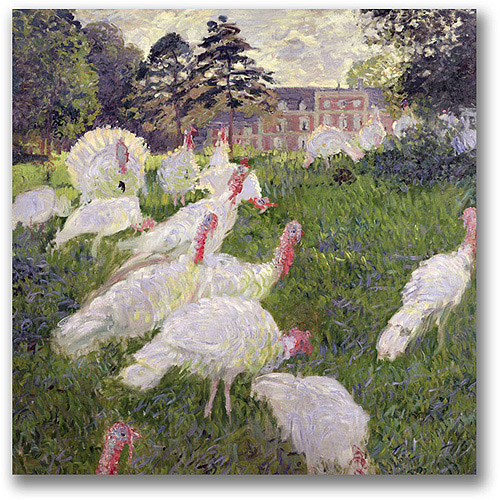 "Trademark Fine Art ""The Turkeys at the Chateau"" Canvas Wall Art by Claude Monet"