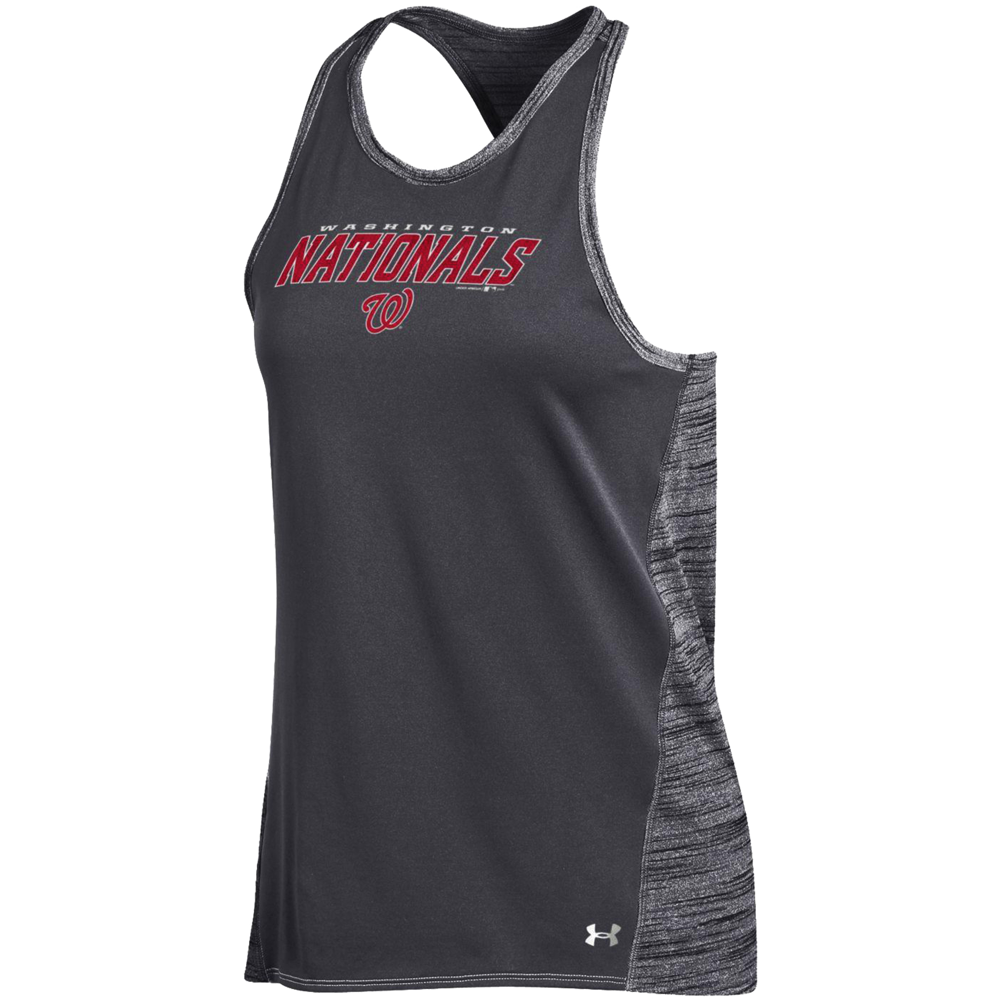 Washington Nationals Under Armour Women's Performance Tank Top - Gray