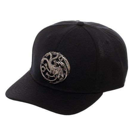 Game Hat (Bioworld - Game of Thrones House Targaryen 3D Logo Snapback Hat )