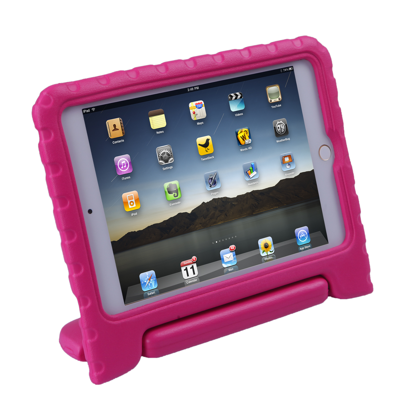 HDE iPad Mini 4 Case for Kids Shockproof Handle Stand Protective Cover for Apple iPad Mini 4 Retina (Pink)