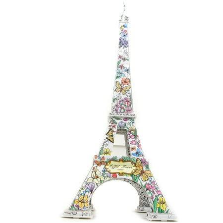 Eiffel Tower II Coloring 3D Puzzle, 46-Pieces](Eiffel Tower Puzzle)
