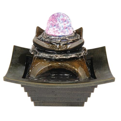 Zen Fountain with LED Light by Ore International