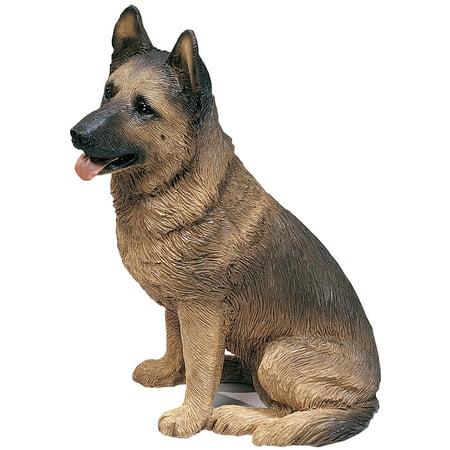 "Sandicast ""Original Size"" Sitting German Shepherd Dog Sculpture"