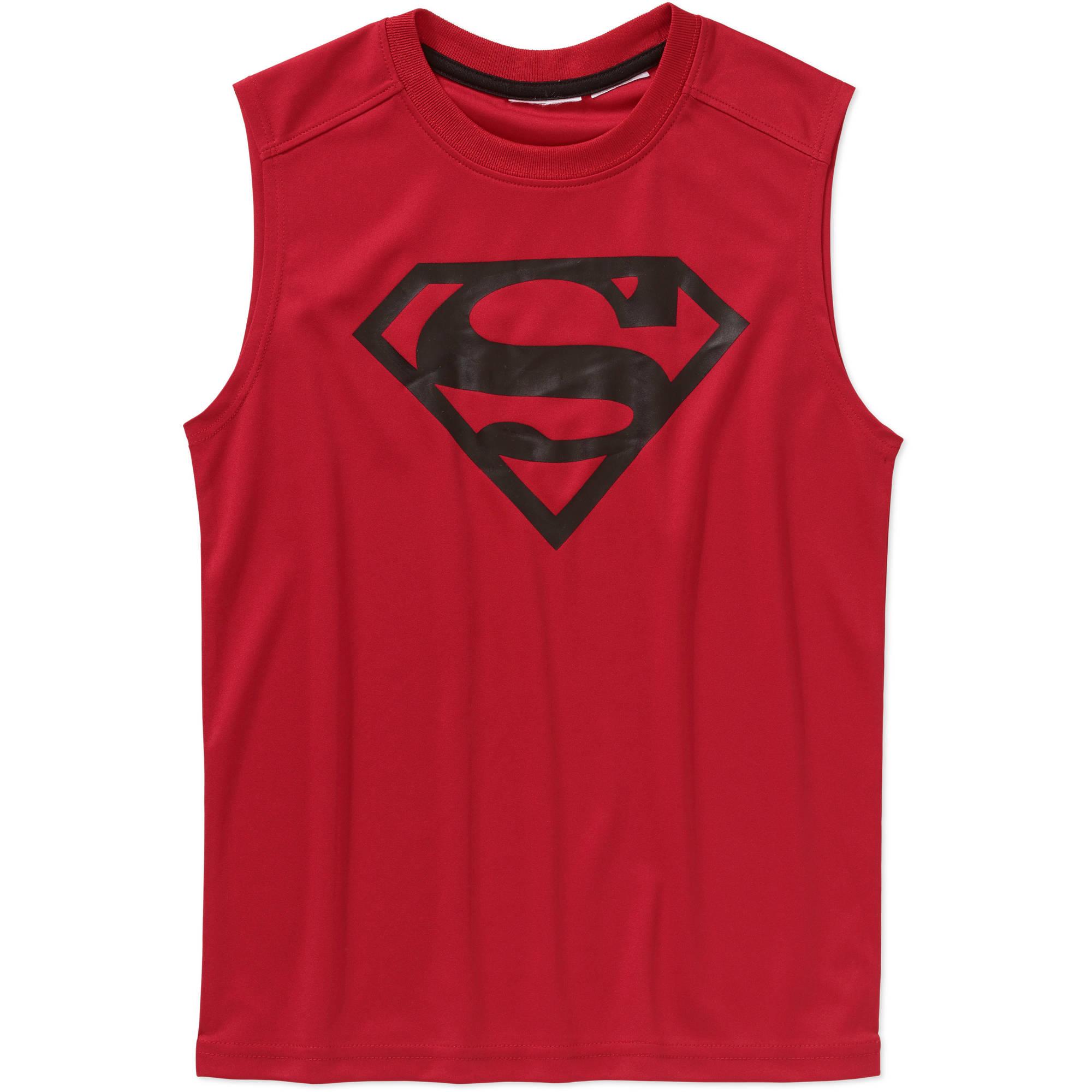 DC Comics Superman Boys' Poly Muscle Top