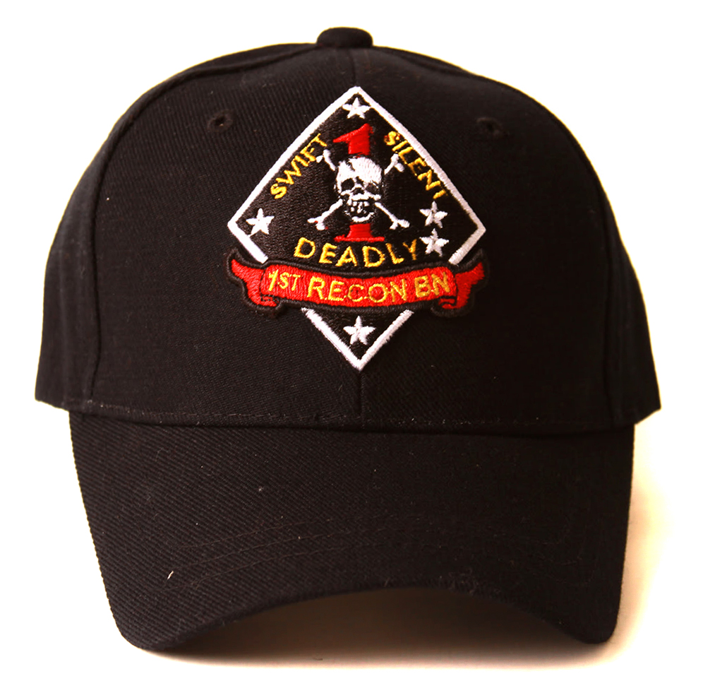"United States 1st Recon ""Swift Silent Deadly"" Logo Hat - Black"
