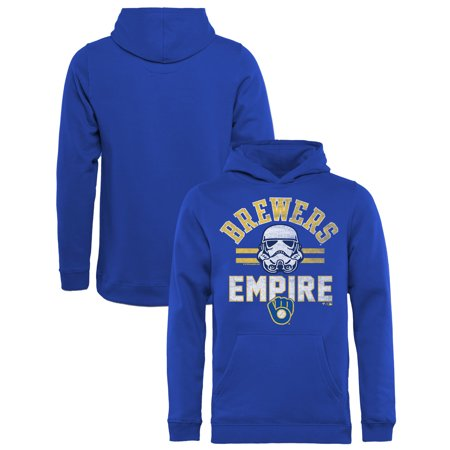 Milwaukee Brewers Fanatics Branded Youth MLB Star Wars Empire Pullover Hoodie - -