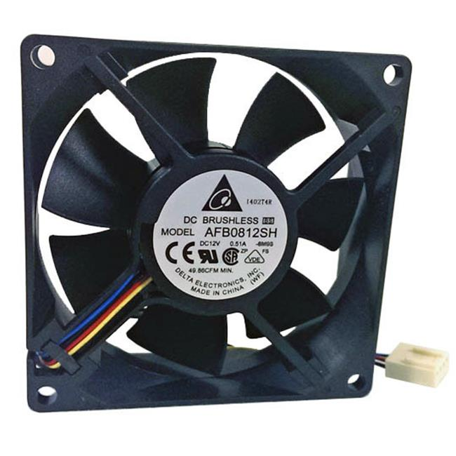 Delta 23-8025-01 80 x 80 x 25 mm. Ball Bearing Cooling Fan