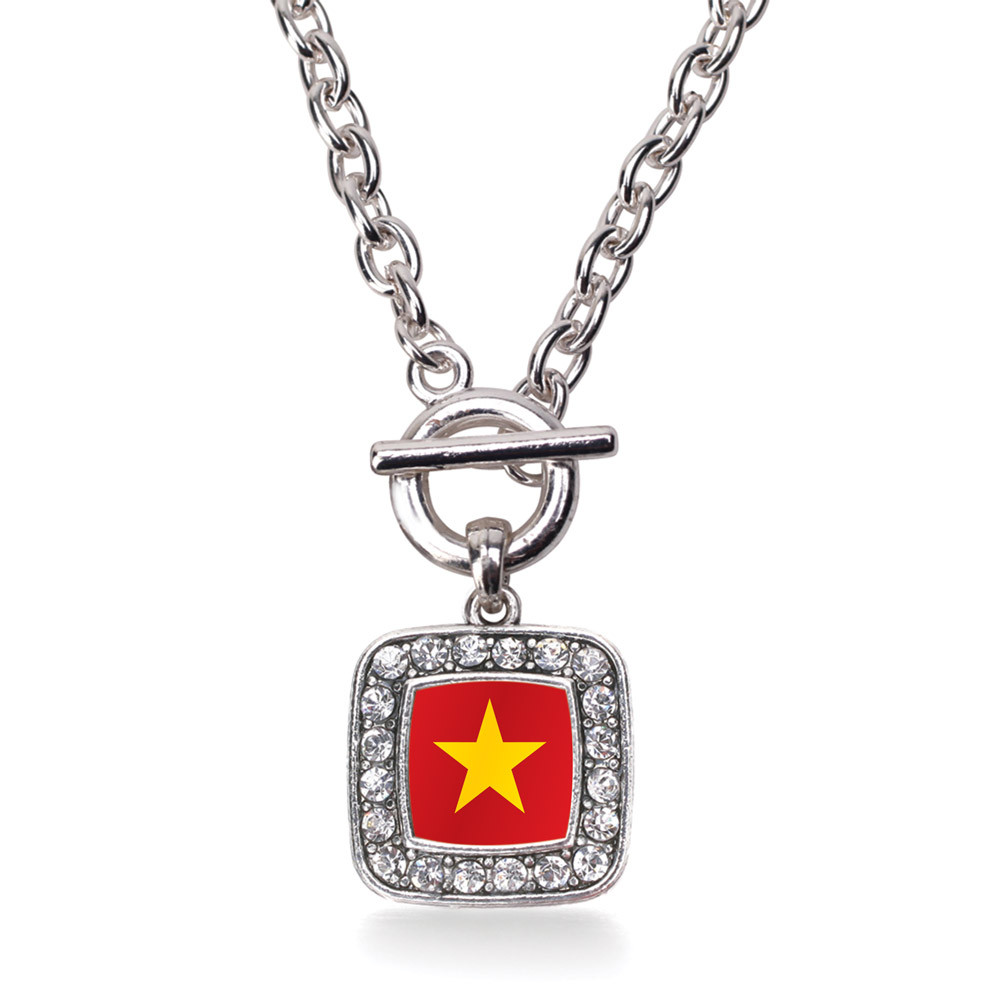 Vietnam Flag Classic Charm Toggle Necklace