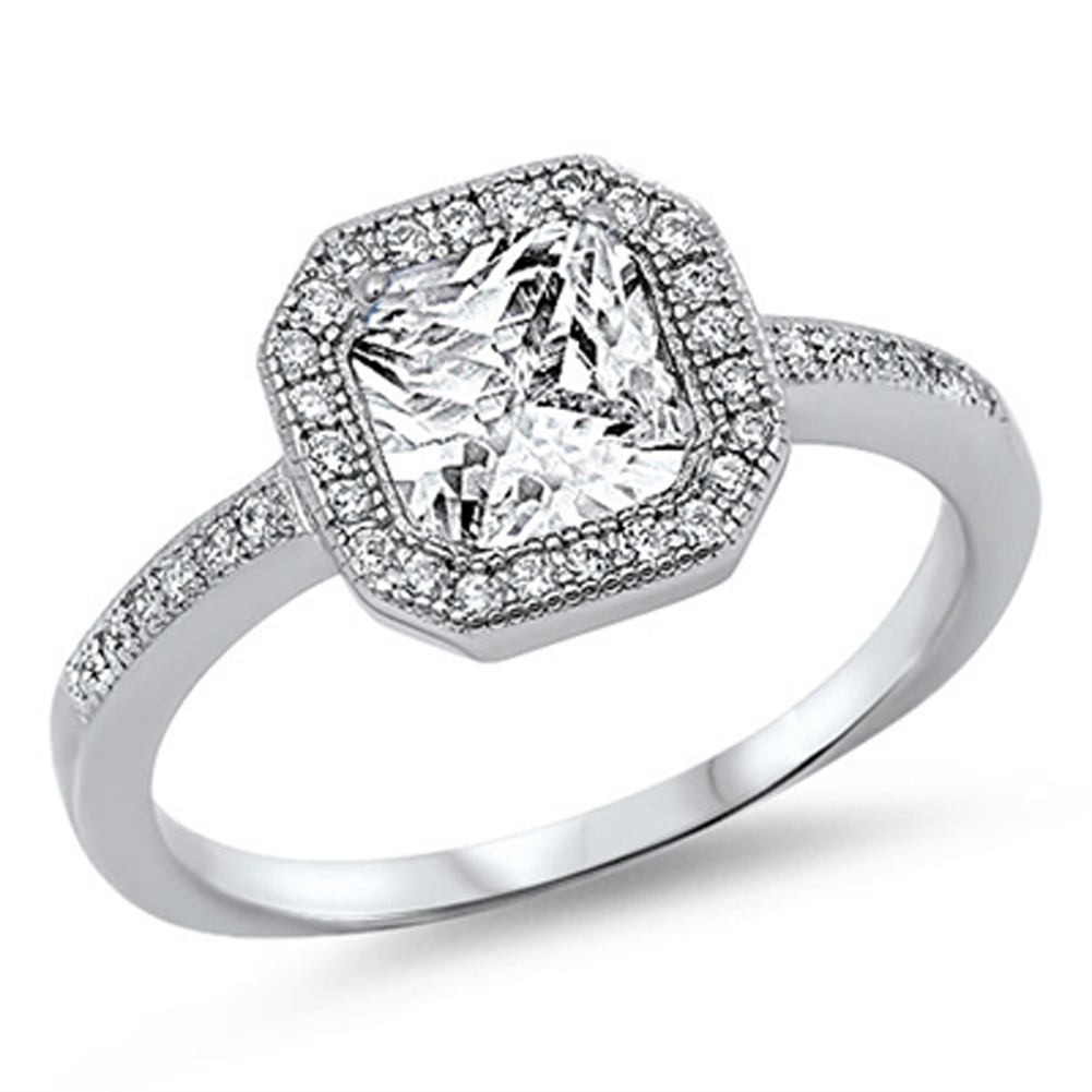 s wedding clear cz halo promise ring sizes 5 6 7 8