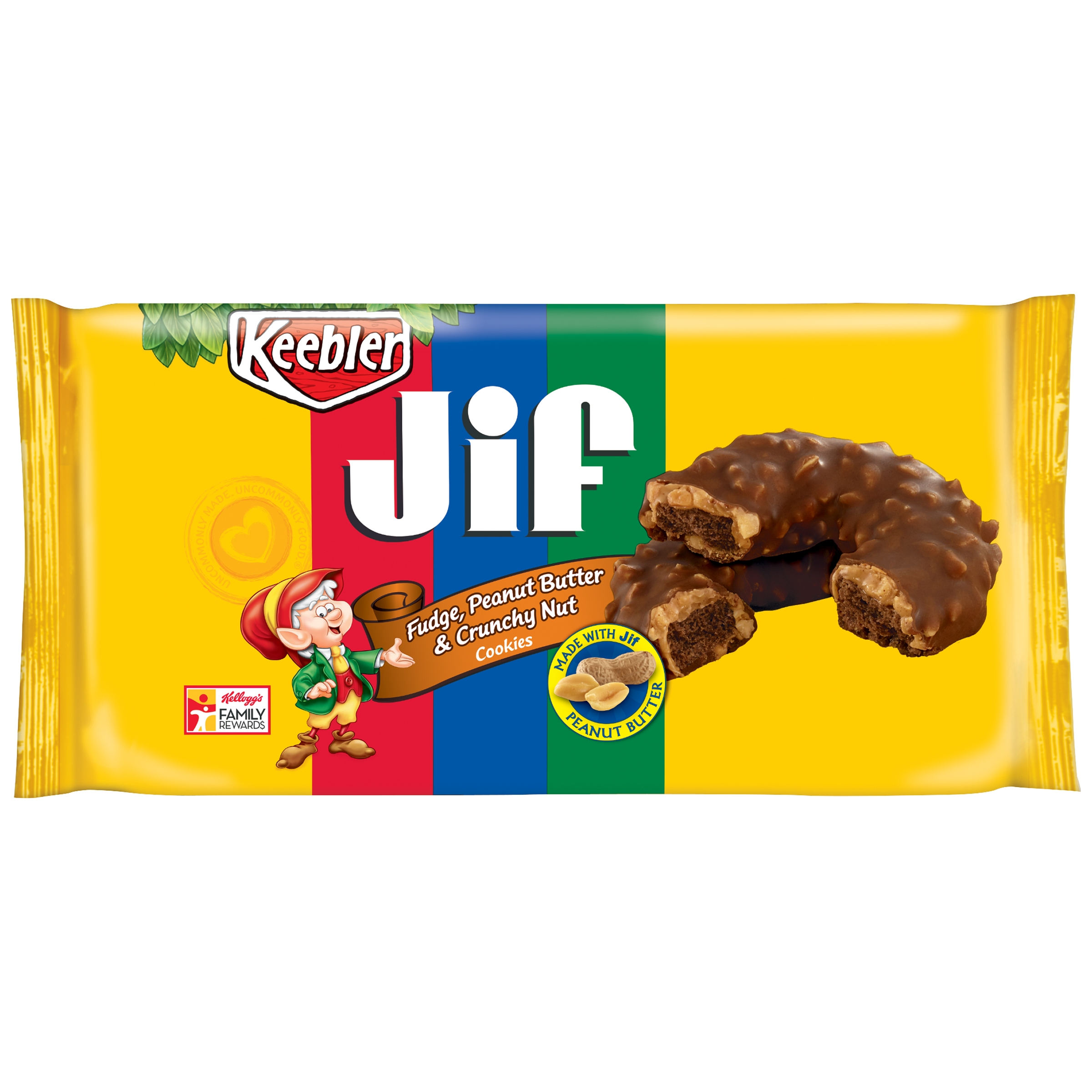 Keebler™ Jif® Fudge, Peanut Butter & Crunchy Nut Cookies 8 oz. Tray