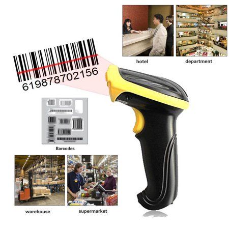 Ktaxon Portable 2 4G High Speed Wireless Mobile Laser USB Automatic Barcode  Scanner Scan Gun, Cordless Handheld Symbol Label Product Bar Code Reader