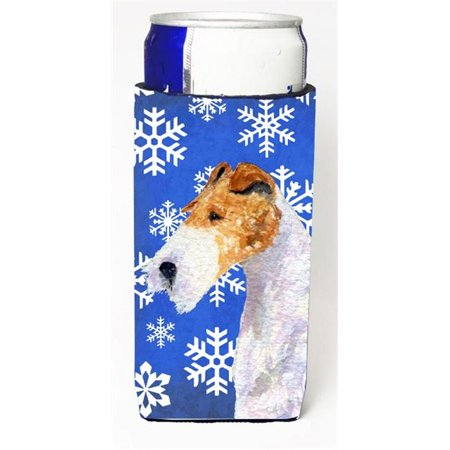 Carolines Treasures SS4616MUK Fox Terrier Winter Snowflakes Holiday Michelob Ultra bottle sleeve for Slim Can - image 1 of 1