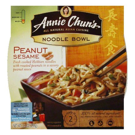 Annie Chuns Noodle Bowl Peanut Sesame, 8.8 OZ (Pack of (Peanut Sesame Noodle Bowl)