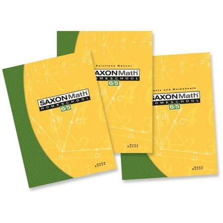 Saxon Math 65 Home Study Kit Third Edition Components Only (Basic Mathematics 3rd Edition)
