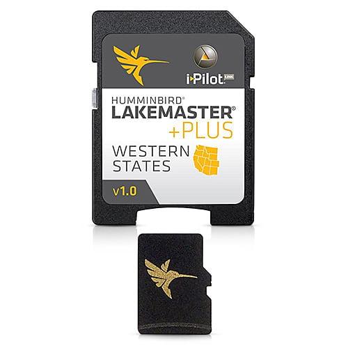 Humminbird Western States PLUS - MicroSD LakeMaster Digital Chart Map 600011-2