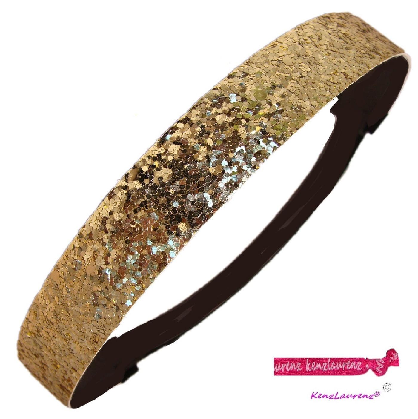 Kenz Laurenz Glitter Headband Girls Headband Sparkly Hair Head Band Gold