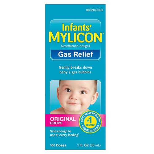 5 Pack Mylicon Infant Drops Anti-Gas Relief, Original Formula, 120 Doses Each