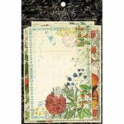 "Time To Flourish Ephemera Cards, 4"" x 8"", 12pk"
