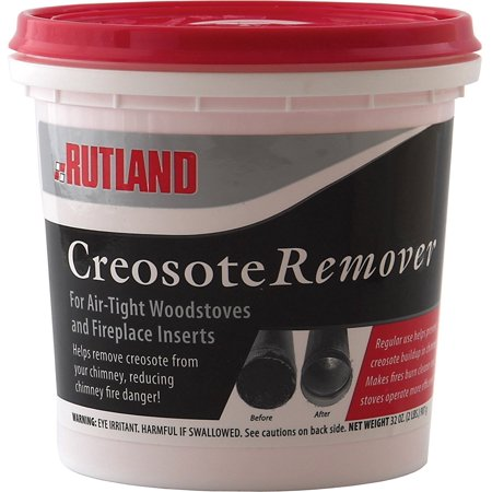 Rutland Dry Creosote Remover Chimney Treatment, 2-Pound, Creosote remover penetrates the sticky, tar-like creosote and turns it into a loose, powdery, non-adhering.., By Rutland (Best Dry Carpet Cleaner Product)