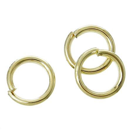 Sexy Sparkles Open Jump Ring Circle Ring Findings Gold Plated 6mm 1000 Pcs