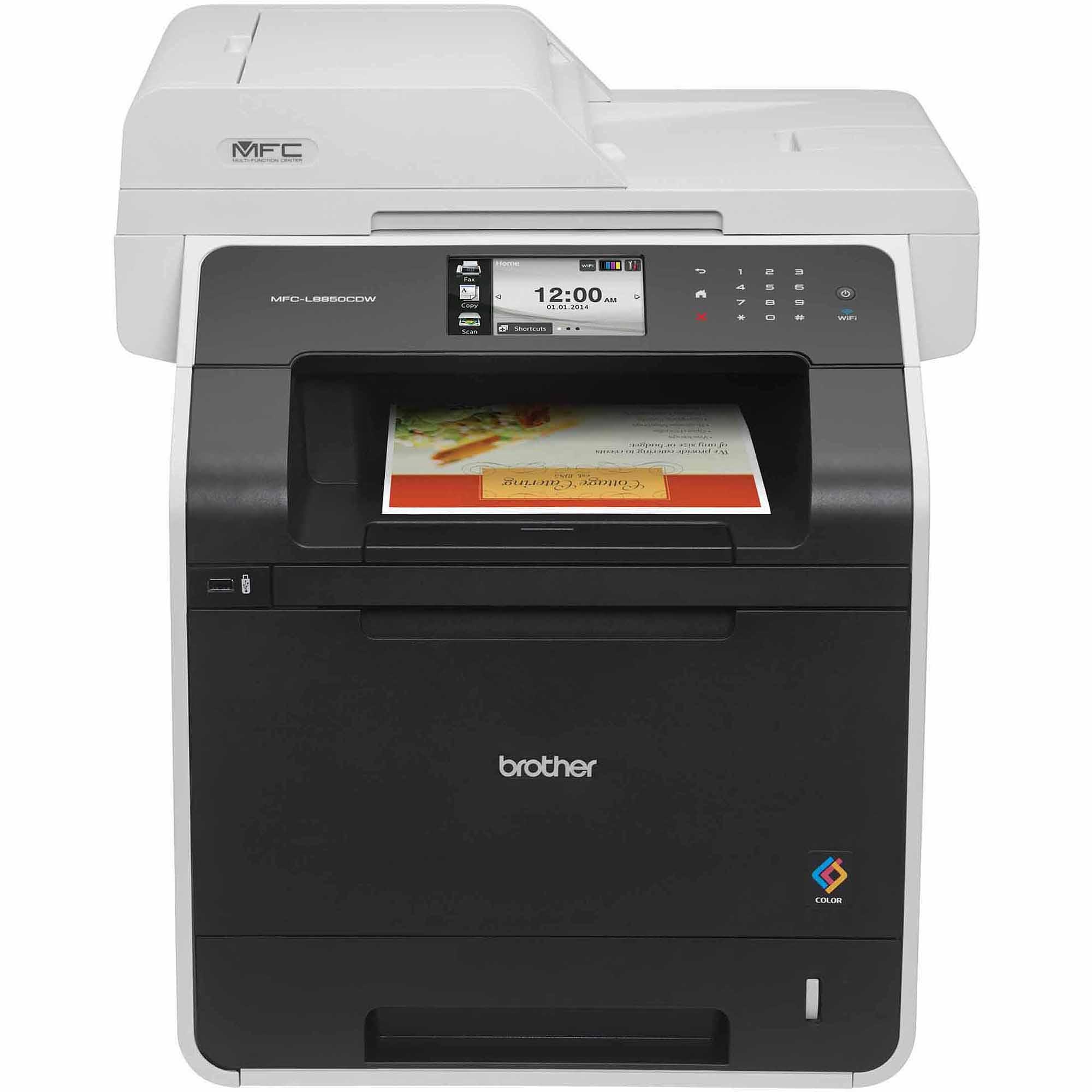 Brother MFC-L8850CDW Color Laser All-in-One Printer/Copier/Scanner/Fax Machine
