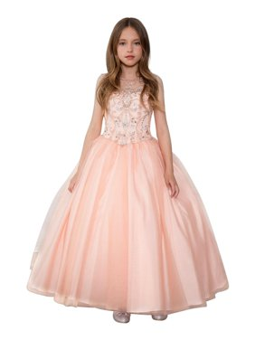301cf5de1 Product Image Little Girls Blush Stone Encrusted Pageant Dress. Calla  Collection USA