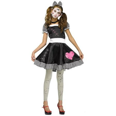 Morris Costumes Broken Doll Junior Teen 0-9, Style FW124073 - Broken Doll Teen Costume