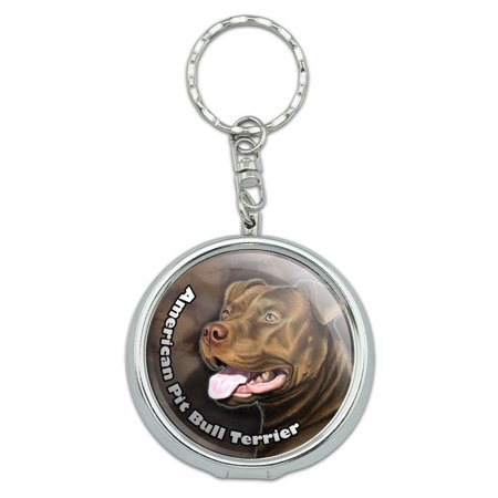 American Pit Bull Terrier Pitbull Red Nose Dog Portable Ashtray Keychain