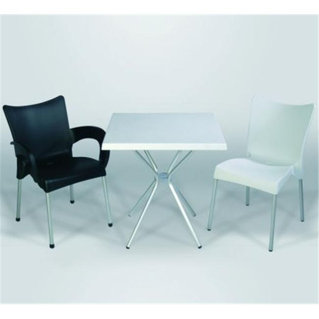 Compamia ISP045-WHI Juliette Chair with Alu Legs - White- Set of 2 - image 1 of 1