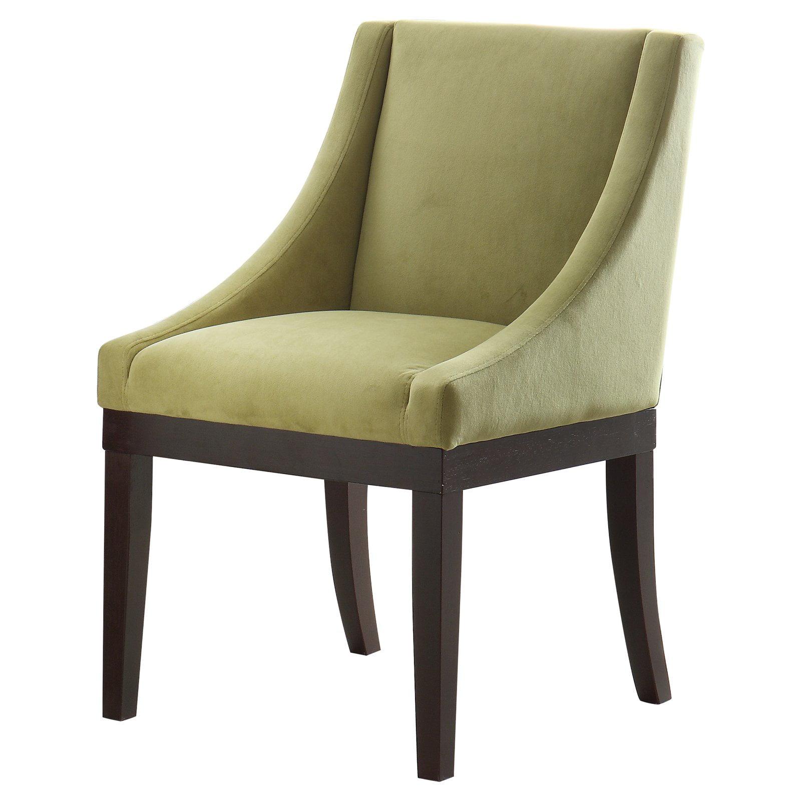 Monarch Wingback Chair, Basil Velvet