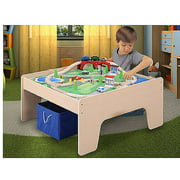 Wooden Activity Table with 45-Piece Train Set & Storage Bin Only At Walmart