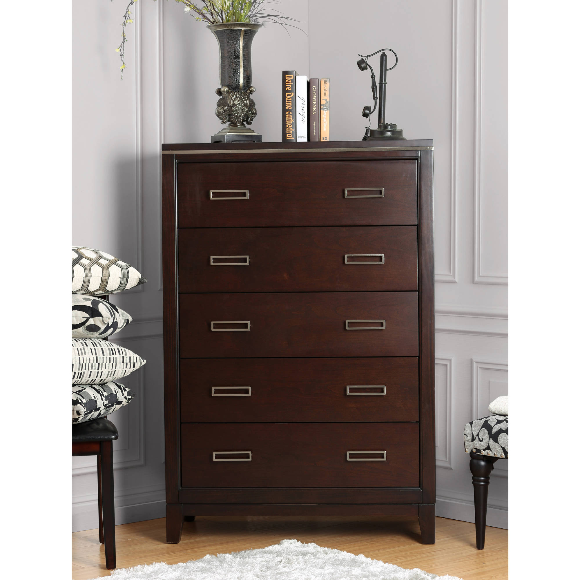 Furniture of America Paloma Contemporary Chest, Cherry