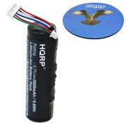HQRP 2600mAh Battery Pack compatible with Garmin Astro System DC-30, DC30, Astro 320, 220 GPS Dog Tracking System Collar Receiver 010-11049-00 + HQRP Coaster