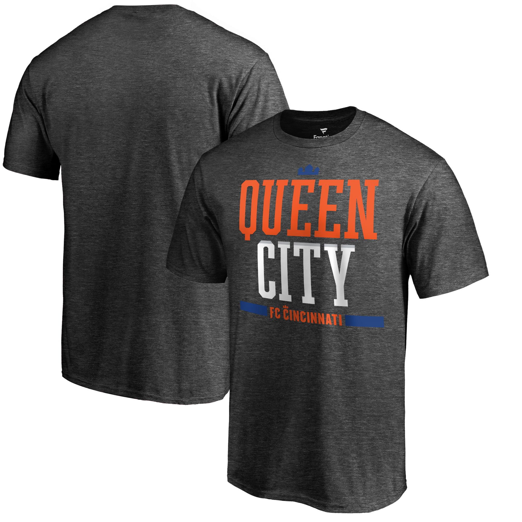 FC Cincinnati Fanatics Branded Hometown Collection Queen City T-Shirt - Heather Gray