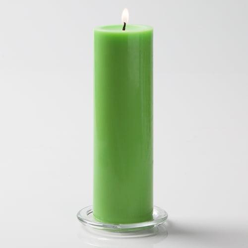 """Richland Pillar Candles 3""""x9"""" Green Set of 12"""