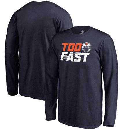 b18d26c23 Edmonton Oilers Fanatics Branded Youth Too Fast Long Sleeve T-Shirt - Navy  - Walmart.com
