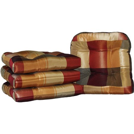 Berwick Plaid Non Slip Chair Pads Set Of 4 Walmart Com