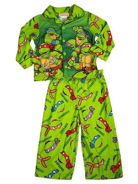 Teenage Mutant Ninja Turtles Toddler Boys Long Sleeve Sleepwear Pajama Set, 38239 green / 2T
