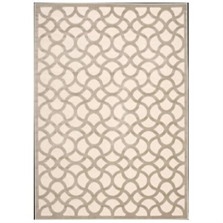 """Ultima Ivory/Silver Area Rug, 3'6"""" x 5'6"""""""