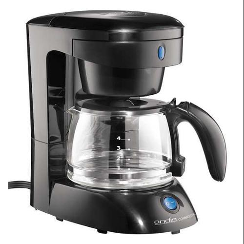 ANDIS ADC-3 Coffee Maker, 4 Cups, Black, 650 Watts