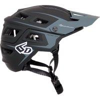 6D ATB-1T Evo Trail Helmet: Black/Gray MD/LG